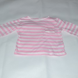 9-12 months pink & white striped top