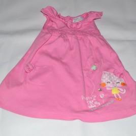 Pink cat dress 9-12 months