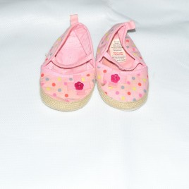 Pink spotty shoes 6-12 months