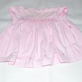 M&S pink flowers dress 6-12 months