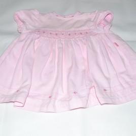 M&S pink flowers dress 6-12 months