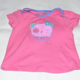 Pink Purrrfect cat t-shirt 9-12 months