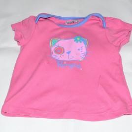 Pink Purrrfect cat t-shirt 9-12 months