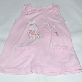 Bunny pinafore 0-3 months