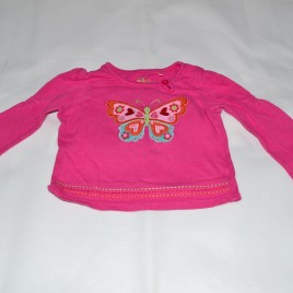 Pink butterfly top 9-12 months