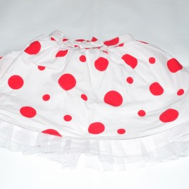 M&S Autograph white & red spotty skirt 2-3 years