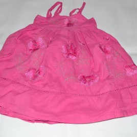 Pink embroidered dress 3 years