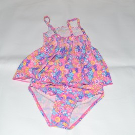 Pink flowers 2 piece swimming costume 2-3 years