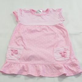 Pink spots & stripes dress 12-18 months