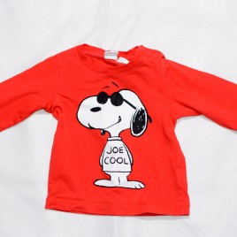 Red snoopy top 6-9 months
