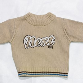 Next brown jumper 3-6 months