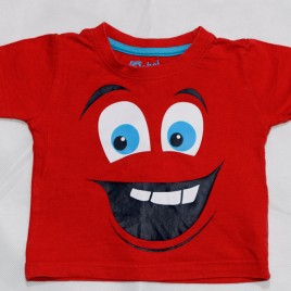 Red smiley face t-shirt 12-18 months