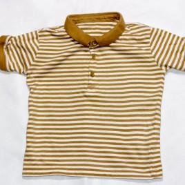 Brown & white stripy t-shirt 2-3 years