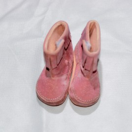 Pink boots size 1 infant