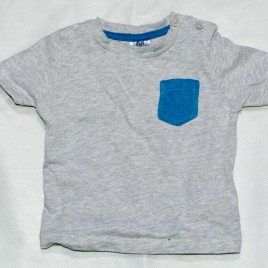 Blue & grey t-shirt 0-3 months