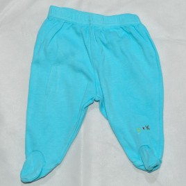 Newborn blue trousers with feet