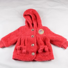 Next red fleece jacket 12-18 months