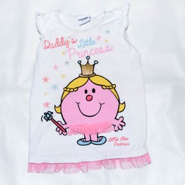 Mr Men 'Daddy's little princess' t-shirt 4-5 years