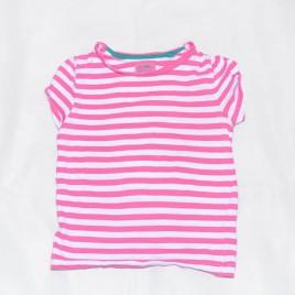 Pink & white stripy t-shirt 3-4 years