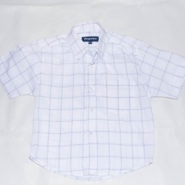 White checkered shirt 3-4 years