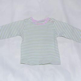 Jojo Maman Bebe green striped top 2-3 years