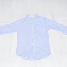White & blue stripy shirt 4-5 years