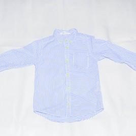 White & blue stripy shirt 4-5 years