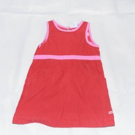Red & pink pinafore 2-3 years