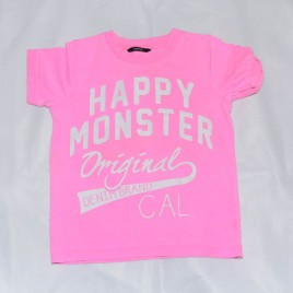 """Happy monster"" pink t-shirt 4-5 years"