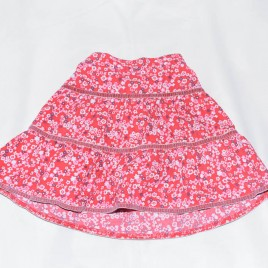 Red cord flowers skirt 3-4 years