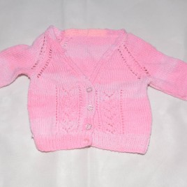 Pink knitted cardigan 6-12 months