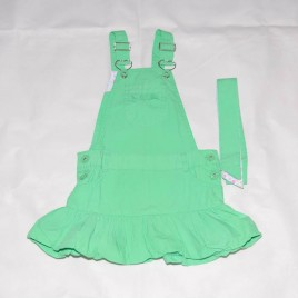 Green pinafore & belt 2-3 years