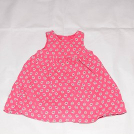 Pink cord pinafore dress  18-24 months