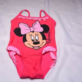 Minnie Mouse pink swimming costume 12-18 months