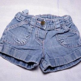 Denim shorts 9-12 months