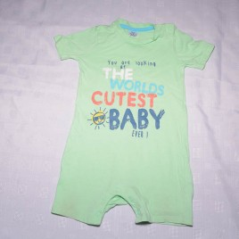 Mint green worlds cutest baby romper 12-18 months