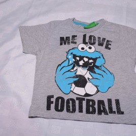 'Me love football' cookie monster t-shirt 2-3 years