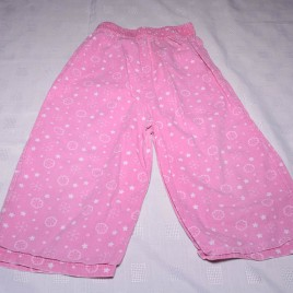 Pink snowflakes & stars pj bottoms 18-24 months
