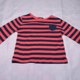 Red & navy top 12-18 months