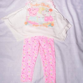 Peppa Pig tunic & leggings outfit 18-24 months