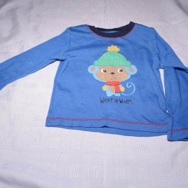 Blue monkey top 18-24 months