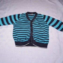 Black & blue striped cardigan 18-24 months