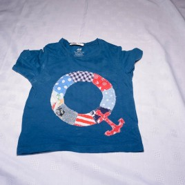 Nautical home made t-shirt 18-24 months