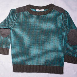 Brown & green jumper 18-24 months