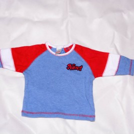 Next red & blue top 0-3 months