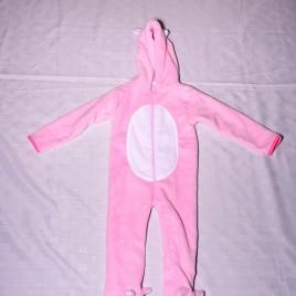 Pink fleece bunny onesie 18-24 months