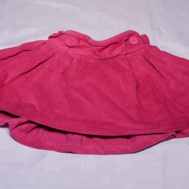 Dark pink jojo Maman Bebe Cord skirt 18-24 months