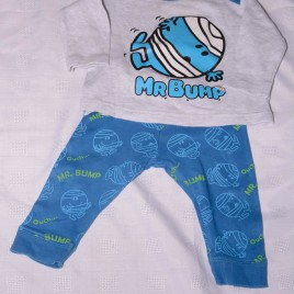 Mr Men, Mr Bump top & trousers 3-6 months