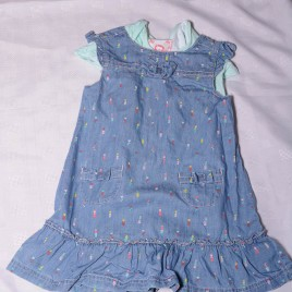 Bodysuit & pinafore dress outfit 18-24 months