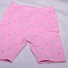 Pink heart shorts 18-24 months